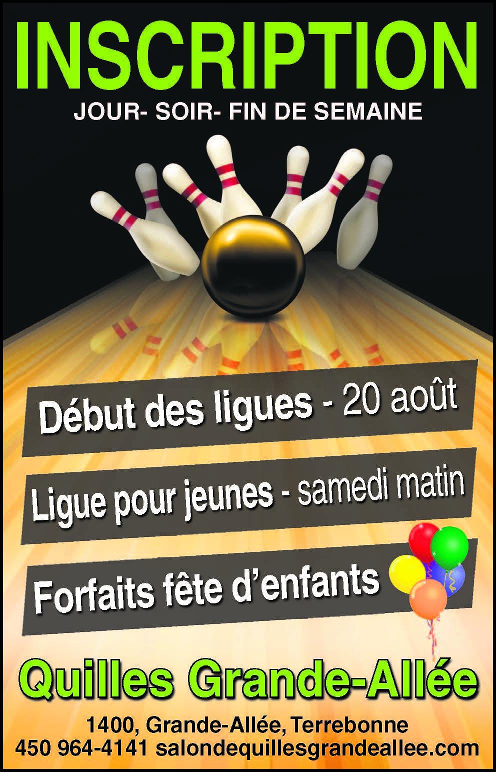 LIGUES Inscription dès maintentant! 450-964-4141