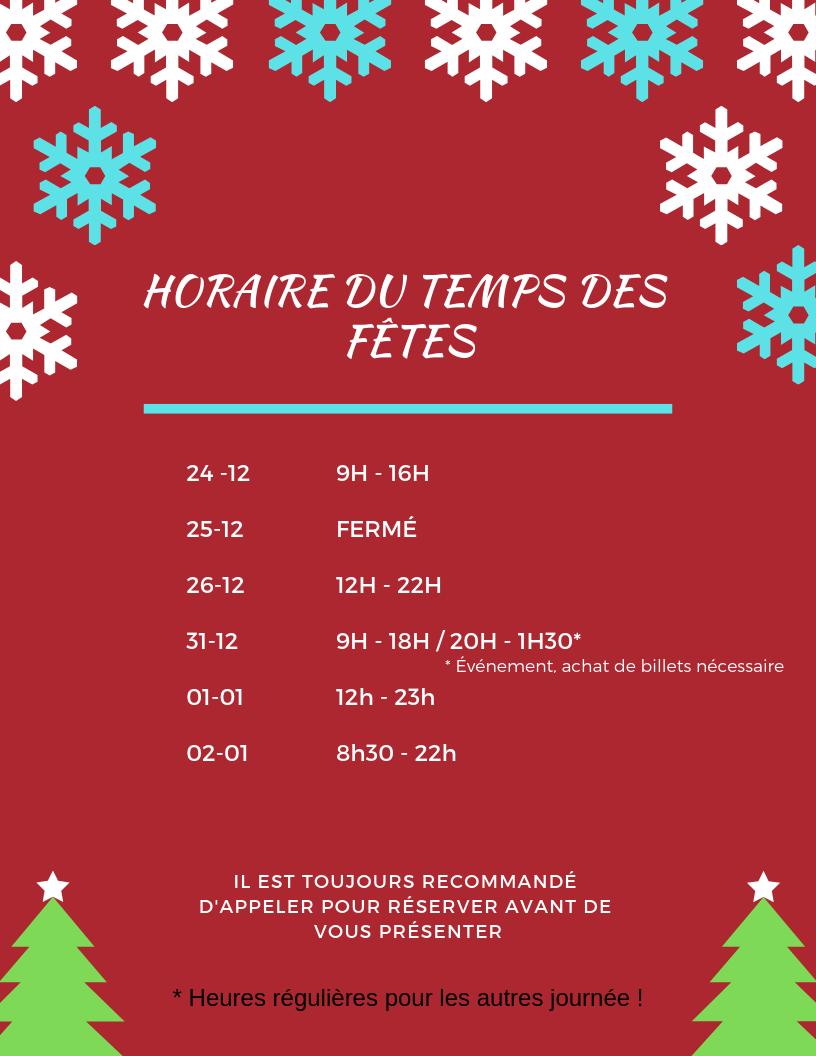 horaire temps des fetes 2018 (1)